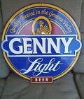 VINTAGE GENNY LIGHT BEER METAL TIN SIGN