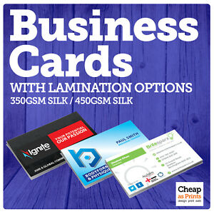 Business Cards Printing   Single or Double Sided Personalised Business Cards
