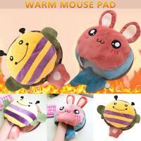 USB Heated Mouse Pad Cute Cartoon Mouse Hand Warmer with Wrist Guard Warm Winter