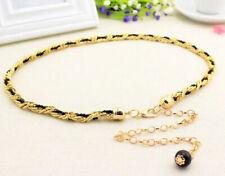 Vintage Pearl Women's Ladies Dress Gold Metal Waist Chain Belt Party Jewellery