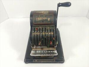 Vintage Hedman Company F & E Check Writer Lightning Series 800 Machine