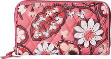 VERA BRADLEY Accordion Quilted Zip Around Wallet Clutch ~ Pink Blush ~ New