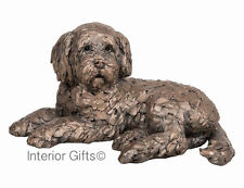 OZZY COCKAPOO LYING Bronze Frith Sculpture Puppy Dog AT035 Adrian Tinsley