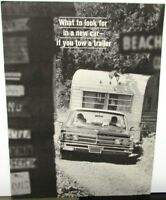 1966 Chrysler Dealer Tow Package Sales Brochure Newport New Yorker Imperial Rare