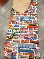 Football NFL Vintage Sleeping Bag Adult Child 1970s era Oilers Steelers Patriots