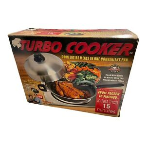 THE TURBO COOKER 4-in-1 Cooking System Chef Randalls PAN & LID ONLY!