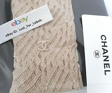CHANEL Nude 2017 Neutral CC Runway Tights Large Hosiery Data Ctr Stockings NEW