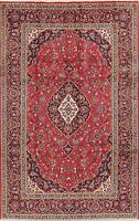 Excellent Floral Medallion Area Rug Wool Hand-Knotted Oriental RED Carpet 7x10