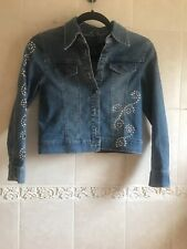 Arizona Jean Company Girls Jean Jacket With Bling - Size M