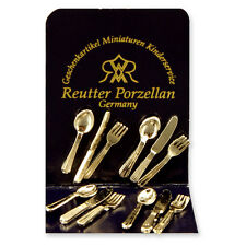 Reutter Porzellan Besteck Cutlery silver Puppenstube Dollhouse 1:12 Art. 1.917/0