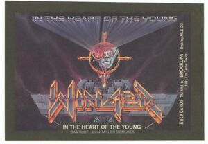 Winger In the Heart of the Young sticker insert Brockum RockCards 1991