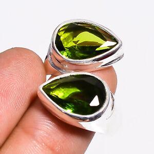 Peridot - Madagascar Gemstone Handmade 925 Sterling Silver Ring Adjustable