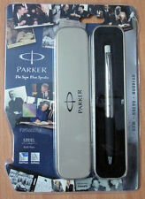 Parker frontier stainless steel ball pen chrome trim CT sealed new genuine gift