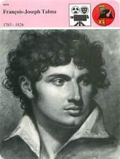 FICHE CARD François-Joseph Talma 1763-1826 Acteur Comédie Française Paris 90s