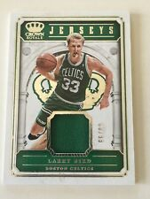 NBA Basketball - LARRY BIRD - Panini Crown Royale Jersey Card 66/99
