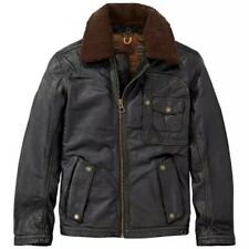 Timberland Leather Ranger jacket with Shearling collar - size Medium - RRP £495