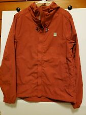 Bench Men's Zip Up Hooded Windbreaker XL 1XL Jacket ~ High Neck ~ Vented ~ EUC