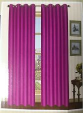 PINK Kashi Home Thermal Insulated Grommet Blackout Curtain Foamback 54x84
