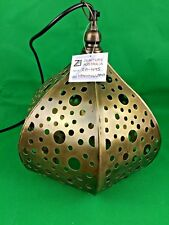 Metal Hammered  Moroccan Antique  Hanging Pendant Lamp Brass 26x26x38 cm NEW