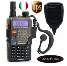 Baofeng UV-5R Plus + MICROFONO Vhf Uhf 136-174/400-520MHZ FM RICETRASMITTENTE