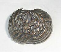 Vintage BSA Boy Scout Metal Neckerchief Tie Slide Holder Eagle Logo
