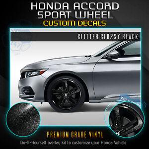 For 2018-2020 Honda Accord Sport Wheel Chrome Delete Vinyl Kit - Glossy Matte