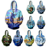 Men Women Fish/Fishing 3D Print Hoodie Sweatshirt Zip Up Coat Jacket Casual Tops