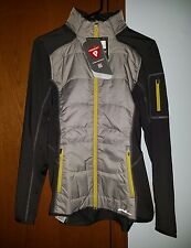 Eddie Bauer Women Hybrid Crossover Jacket ~ Gray & Lime Green ~ Sz Large ~ BNWT