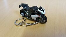 Diecast Ducati 1199 Panigale Grey Black Toy Motorcycle Keyring Keychain