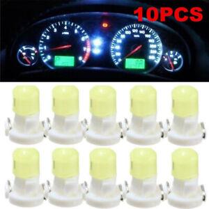 10x White T3 Wedge 12V LED Instrument Cluster Dash Panel Climate Light Bulbs