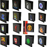 EMBROIDERED LEATHER FOOTBALL CLUB CREST SPORTS TEAM MONEY WALLET PURSE XMAS GIFT