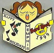Hard Rock Cafe MEMPHIS 1999 Christmas PIN - CAROLER Series #13 of 15
