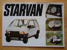 CICOSTAR Starvan 1980s French Mkt sales brochure
