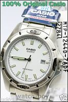 MTP-1244D-7A Water Resist Day Date Casio Men's Watch Quartz Analog Stainless
