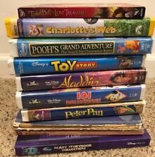 Lot of 10 Walt Disney VHS DVD Masterpiece & Classics Tapes Movies & Books