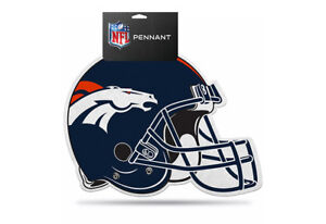 NFL Denver Broncos Die Cut Felt Pennant Sign Wall Man Cave Helmet NEW