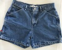 Tommy Hilfiger High Waisted L Womens Carpenter Denim Shorts Size 8 Tool Holder