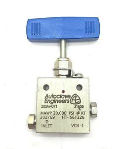 Autoclave Engineers 20SMA4071 Needle Valve MAWP 20,000 PSI Marine Industrial