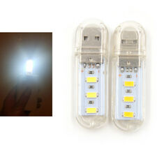 2pcs Mini USB LED Night light Camping lamp For Reading Bulb Laptops Computer TB