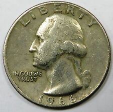 C006-13 TO 16 # UNITED STATES | WASHINGTON QUARTER, 1/4 DOLLAR, 1966, VF