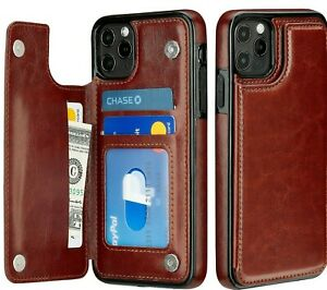 iPhone Case 11 / 12 Pro / Max Cover Leather Magnetic Wallet Kickstand for Apple