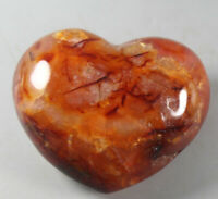 Natural Colorful Red Orange White Carnelian Agate CRYSTAL Heart Healing  248g