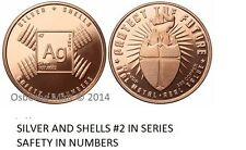 20-1 OZ COPPER COINS *SILVER AND SHELLS* SAFETY IN NUMBERS 2ND AMENDMENT 1-5-100