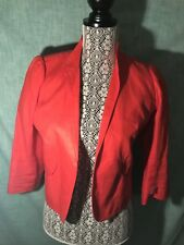 Smythe Red Crop Blazer Famous Brand  Seen On  hollywood stars
