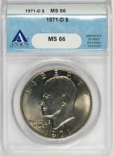 1971-D Eisenhower Dollar - ANACS MS66