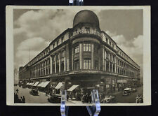 Postcard Berlin Central Hotel Old Cars Germany BW RPPC