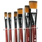 6x Artist Paint Brush Set Lot Nylon Hair Watercolor Acrylic Oil Painting Supply