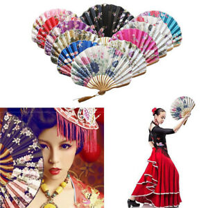 Fashion Chinese Style Hand Fan Bamboo Paper Folding Fan Party Wedding Decor 1PC