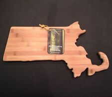 NEW Totally Bamboo Cutting Serving Board Massachusetts Bay State Map/Boarder