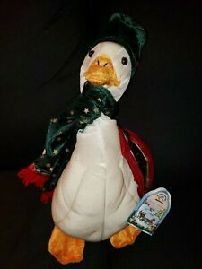 """Applause Lamplight Carolers Christmas Goose #567161 Vintage HTF Flaws 14"""" w/Tags"""